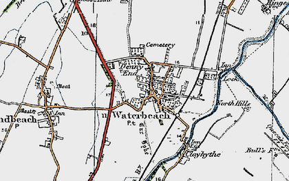 Old map of Waterbeach in 1920