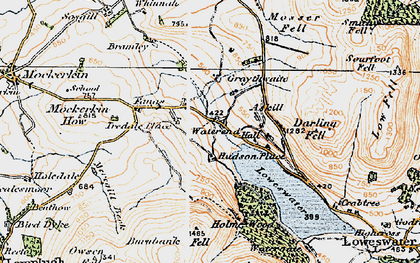 Old map of Askill Knott in 1925