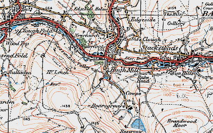 Old map of Waterfoot in 1924