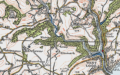 Old map of Watergate in 1919