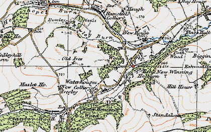 Old map of Baal Hill in 1925