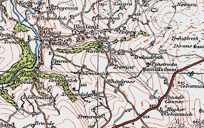 Old map of Waterloo in 1919