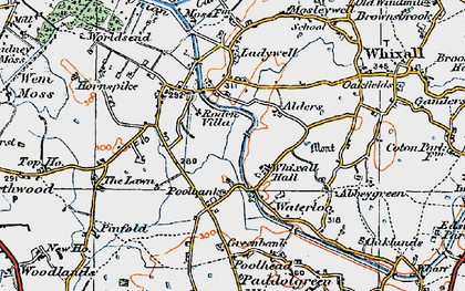 Old map of Lawn, The in 1921