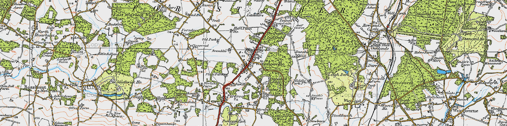 Old map of Waterlooville in 1919