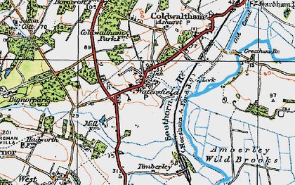 Old map of Ashurst in 1920