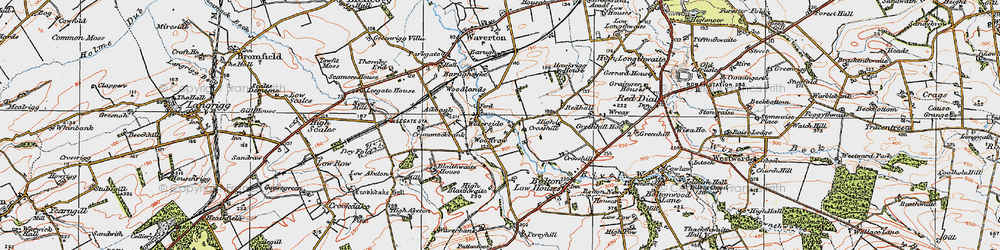Old map of Woodlands in 1925