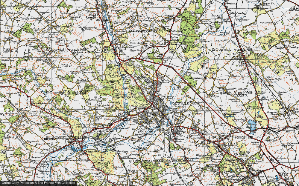 Old Map of Watford, 1920 in 1920