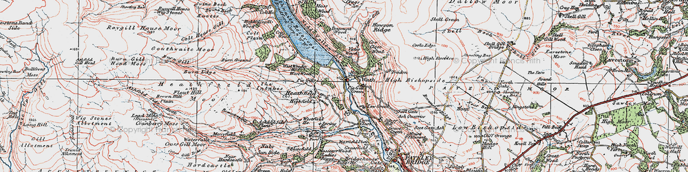 Old map of Wath in 1925