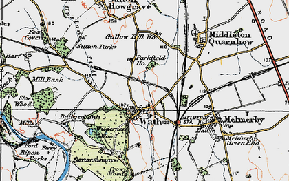 Old map of Wilderness Wood in 1925
