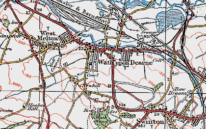 Old map of Wath Upon Dearne in 1924