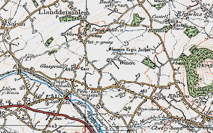 Old map of Bach yr Hilfry in 1922
