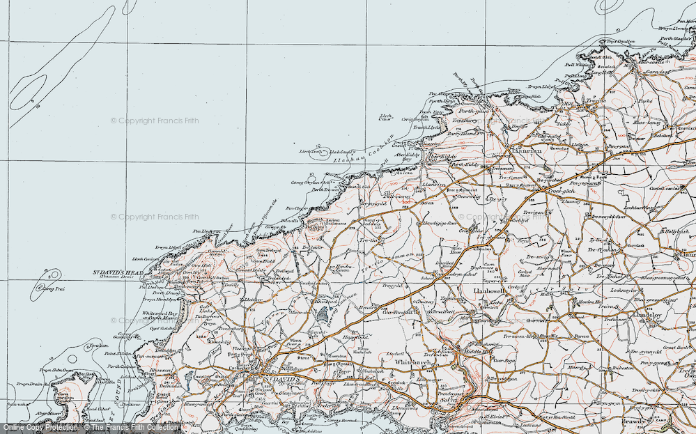 Old Map of Historic Map covering Aberdinas in 1922