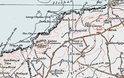 Old map of Aberdinas in 1922