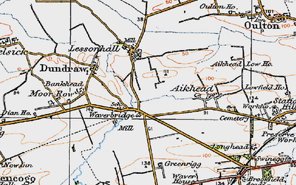 Old map of Aikhead in 1925