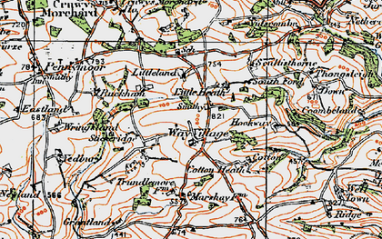 Old map of Westway in 1919