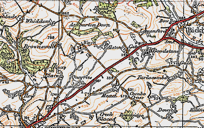 Old map of Ashburton Down in 1919