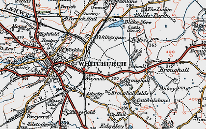 Old map of Yockings Gate in 1921
