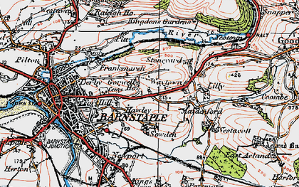 Old map of Lilly in 1919