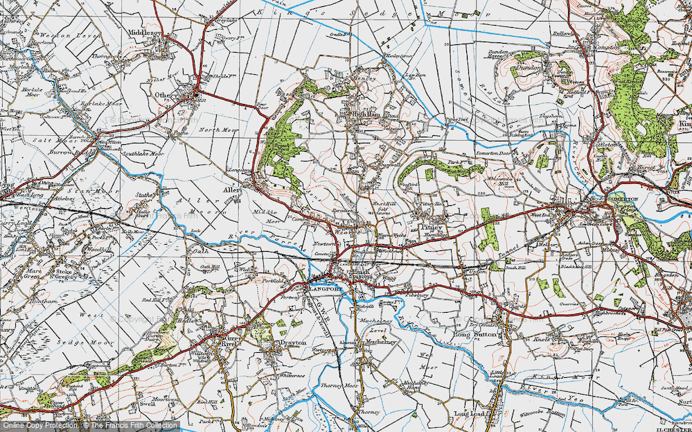 Old Map of Wearne, 1919 in 1919