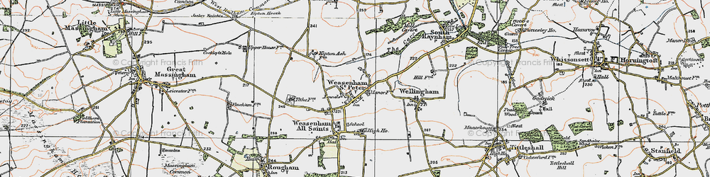 Old map of West Raynham Airfield in 1921