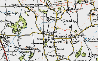 Old map of Weatherhill in 1920