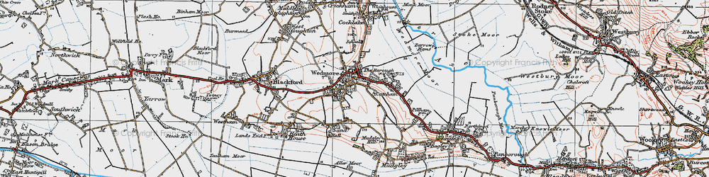 Old map of Wedmore in 1919
