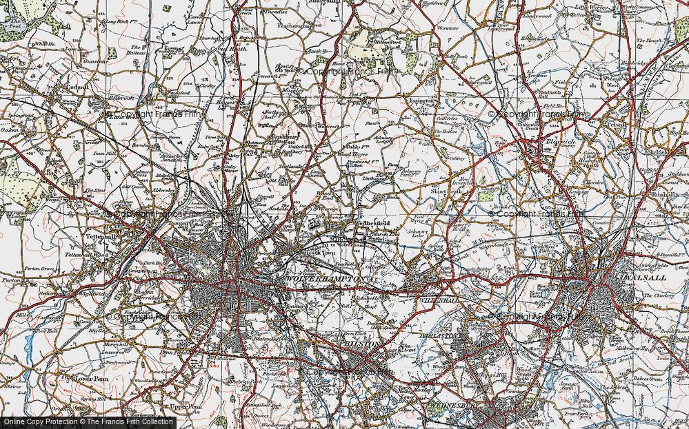 Old Map of Wednesfield, 1921 in 1921