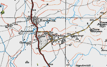 Old map of Weedon in 1919