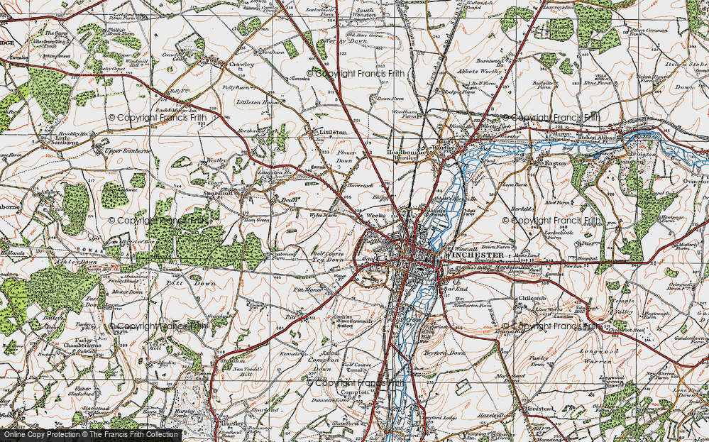 Old Map of Weeke, 1919 in 1919