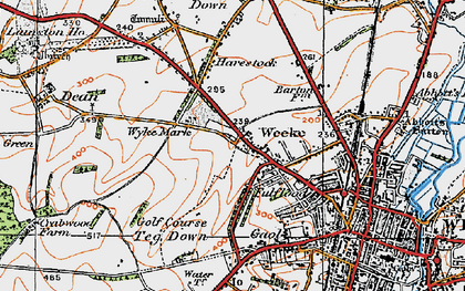 Old map of Weeke in 1919