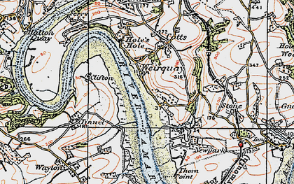 Old map of Weir Quay in 1919