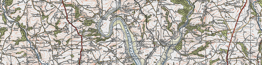Old map of Tinnell in 1919