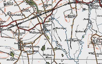 Old map of Tilehouse Br in 1925