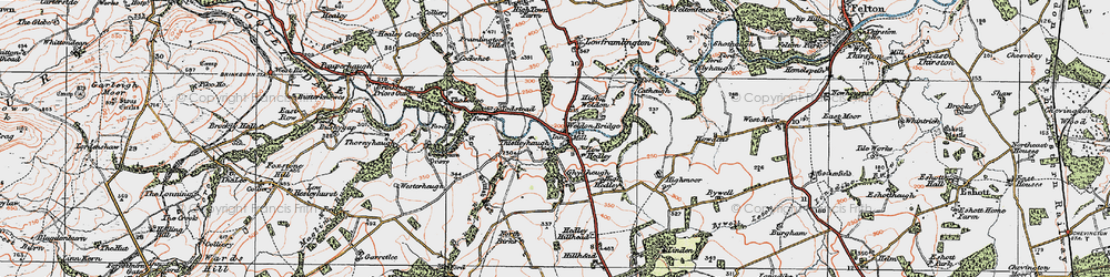 Old map of Todstead in 1925