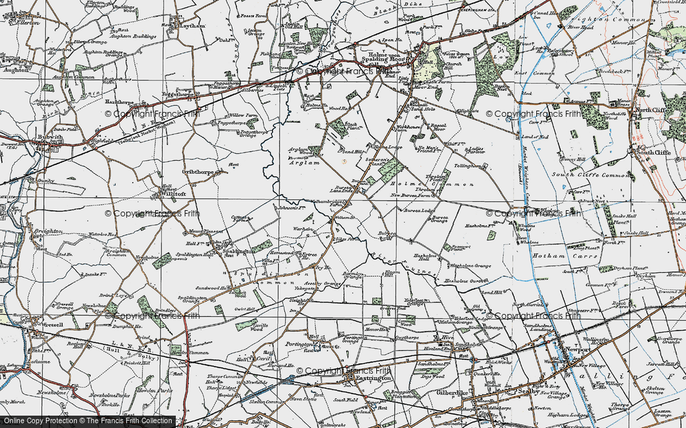 Old Map of Historic Map covering Yokegate in 1924