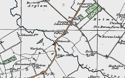 Old map of Yokegate in 1924