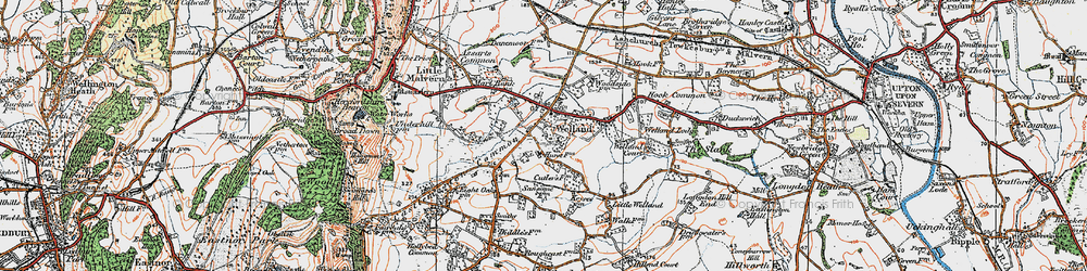 Old map of Welland in 1920