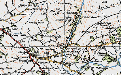 Old map of Whinnerah in 1925