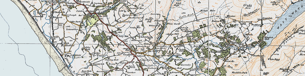 Old map of Whin Garth in 1925