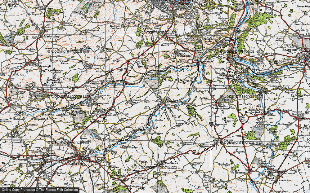 Old Map of Wellow, 1919 in 1919