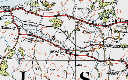 Old map of Lee Copse in 1919