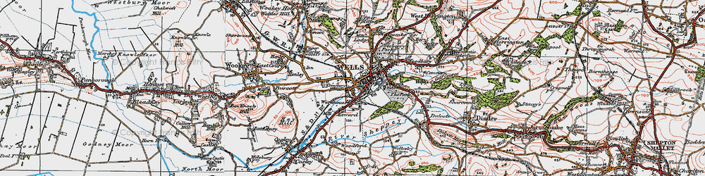 Old map of Wells in 1919