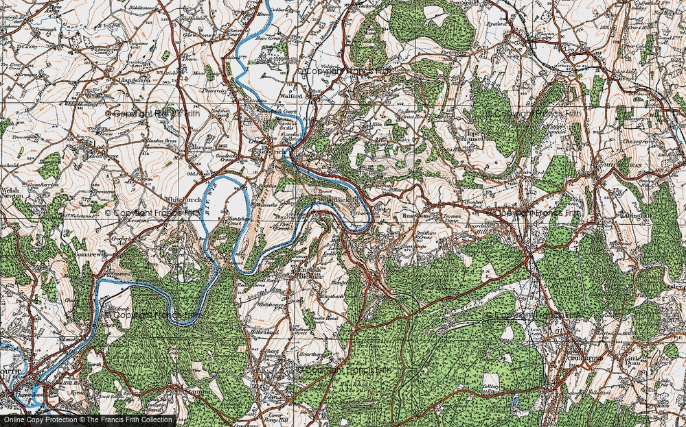 Old Map of Welsh Bicknor, 1919 in 1919