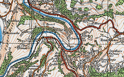 Old map of Welsh Bicknor in 1919