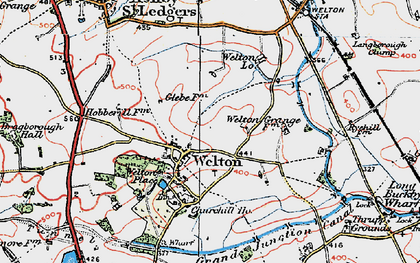Old map of Welton in 1919