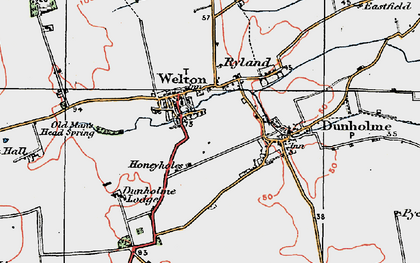 Old map of Welton in 1923