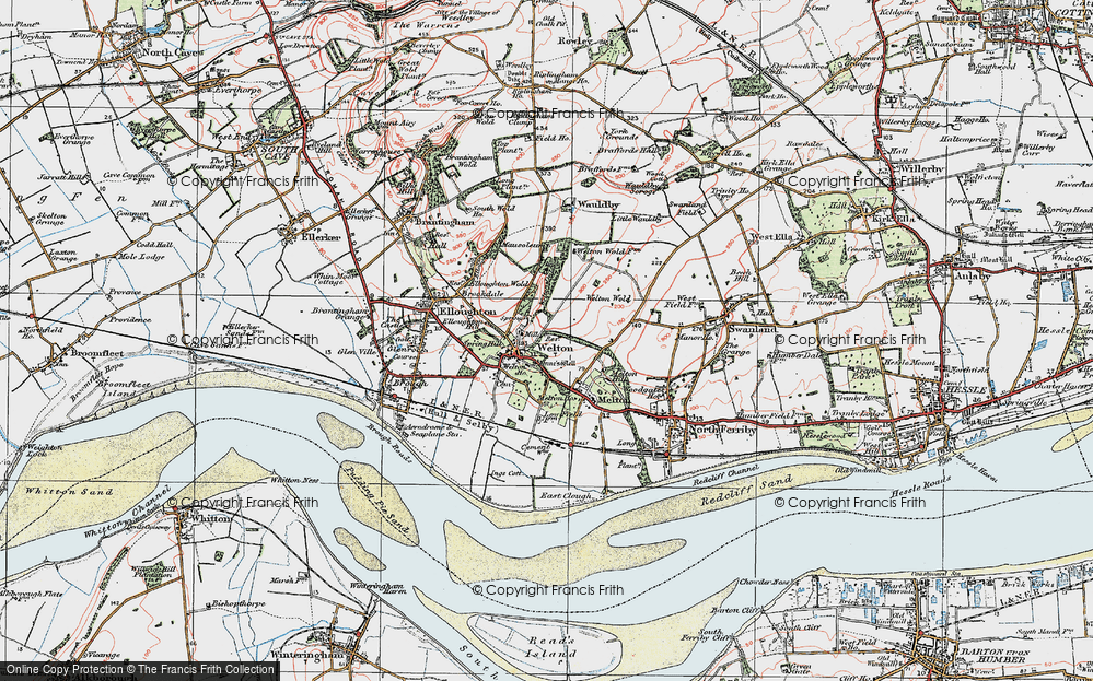 Old Map of Welton, 1924 in 1924