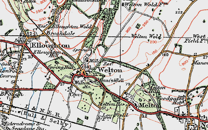 Old map of Welton in 1924
