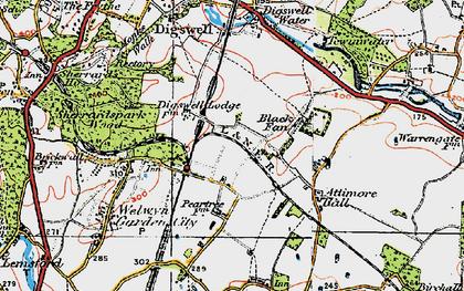 Old map of Welwyn Garden City in 1920