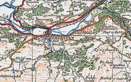 Old map of Afon Arran in 1921